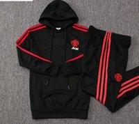 erkek çocuklar kara hoodies toptan satış-18 19 çocuklar Birleşik çocuklar Hoodies 2019 siyah kırmızı erkek eşofman LINGARD spor POGBA çocuk uzun kollu Adam eğitim suits
