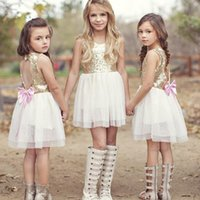 Wholesale children classic clothes online - 2019 Fashion Baby Girls Sleeveless Princess Tutu Dress Summer Backless Designed Tulle Dress Children fluffy Party Clothes