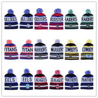chapeaux de bonnet nrl achat en gros de-Nouvelle équipe de la LNR Casquettes Bonnets Chapeaux de sport Mix match 18 du ÉQUIPES Caps en stock Top Hat Qualité