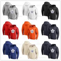 ingrosso acero rosso foglia logo-Toronto da uomo, foglie d'acero, fanatici, con marchio, frassino, bianco, rosso, arancio, ricamo, principale, logo, pullover, hoodie, lungo, esterno, manica, usura