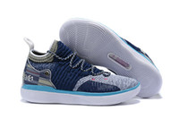 Wholesale best kevin durant shoes resale online - 2019 Best New KD XI Navy Blue Black Sports Basketball Shoes High Quality Mens Kevin Durant s Trainers Designer Sneakers US