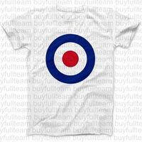 mod şortu toptan satış-RAF Roundel Mod Hedef Erkek Tişörtleri Kim Küçük Erkek Beyaz Kısa Kollu Faces Moda Yuvarlak Yaka T Shirt Boyut XL S L 2XL 3XL Tops