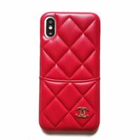 wallet case großhandel-Neuer Luxusmappen-Kasten-Telefon-Kasten für IphoneX XS XR XSMAX X 7Plus / 8Plus 7/8 6 / 6sP 6 / 6s Entwerfer-Telefon-Kasten mit Marken-Manschetten-Ständer