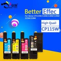 cartuchos compatibles con xerox al por mayor-4pcs = 1set CP115W Cartucho de tóner Compatible para Fuji Xerox CM115w CM115 CM225w CM225 CP115w CP115 CP116w CP225W CP225 impresora