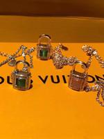 colar de pedra gato venda por atacado-S925 prata pura cadeado Qualidade Luxo Colares do com nave olho de gato e pedra de diamante por Mulheres colar de jóias PS5037