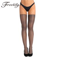 silk tights women black 2021 - FREEBILY 1 Pair Women Anti-skid Soft Silk Long Stockings Sexy Women Stockings Sexy Pantyhose Nylon Tights Ladies Long