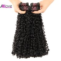 Wholesale funmi hair extensions for sale - Group buy Allove Funmi Hair A Double Drawn New Curly Hair Extensions Indian Human Hair Bundles Natural Curl Brazilian Peruvian Bundles Malaysian