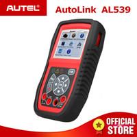 escáneres de código de enlace automático al por mayor-Autel AutoLink AL539 OBDII puede escanear herramienta Lector de código de prueba eléctrico Detector de coche OBD 2 Escáner de diagnóstico PK AL539B AL519