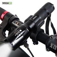 ingrosso torcia porta batteria-WOSAWE Nuova Bicicletta Luce 1000 Lumens 5 Modalità T6 LED Torcia frontale per bici Impermeabile + Supporto torcia Supporto 18650 Batteria # 368379