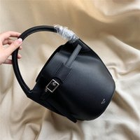 Wholesale cute style handbags for sale - Group buy 2020 women s fashion Retro Real Leather bucket bag cm Cute Mini slant span bag casual simple style one shoulder handbag wallet Card Holder