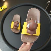 ingrosso carino scarpe da bambino rosa-Ciabatte per bambini estate cartoon stereo orso coniglio carino casa per bambini antiscivolo fondo morbido scarpe da bambino