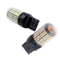 Wholesale led smd flash resale online - 4 Super Bright Canbus T20 W21W Wy21W Smd Reverse Light Turn Signal Light No Hyper Flash T20 Led Bulbs Black Sh