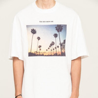 Wholesale new graphic tees online – design New Mens Designer T Shirts IH NOM UH NIT PHOTO GRAPHIC PRINT TEE Palm Tree Fashion Hot Womens Couple Shirt HFSSTX219