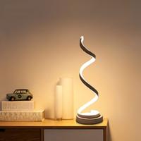 fişli ledli masa ışıkları toptan satış-Modern 20 W Dimable LED Masa Lambası Yatak Odası Okuma Masa Işık Başucu Lambası Çalışma Göz Koruyun ABD / AB Tak