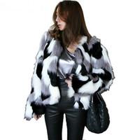 beyaz sahte kürk ceket toptan satış-Kadın Sahte Kürk Sherpa Shaggy Ceket 2018 Kış Artı Boyutu Kürk Ceket Kadın Giyim Beyaz Faux Coat