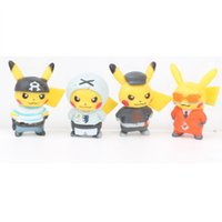 ingrosso modello elfo-7 Pikachu Elf Toy Capsule Doll Modello Micro View Decoration kids of gift 3-4cm V038