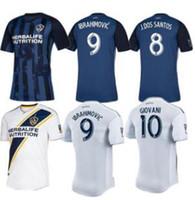 beckham galaxy jersey venda por atacado-2019 LA Galaxy camisa de futebol ZLATAN IBRAHIMOVIC Jersey 19 20 Los Angeles Galaxy Camisa de manga longa GIOVANI BECKHAM maillot de pé