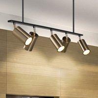 led leuchtet goldscheinwerfer großhandel-Gold Lampenschirm Pendelleuchten LED Hängestrahler Lampe GU10 Nordic Modern Design für Esszimmer Metall Pendelleuchte