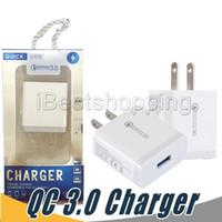 schnellste ladung power bank großhandel-QC 3.0 Fast Charge Adapter QC3.0 Quick Charge Ladegerät Adapter Ladegerät Dock Traver Adapter für US-EU-PLUG