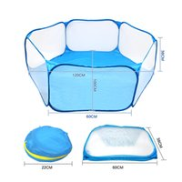 Wholesale pet playpens for sale - Group buy Folding Fence For Hamster Hedgehog Small Animals Breathable Puppy Cat Rabbit Guinea Pig Portable Pet Cat Dog Cage Tent Playpen