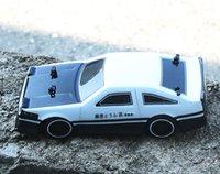 4wd sürüklenme araçları toptan satış-1:24 4WD sürücü hızlı drift araba Uzaktan Kumanda Araba AE86 modeli 2.4G Radyo Kontrol Off-Road Araç RC Sürüklenme oyuncak