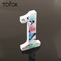 Wholesale home decor suppliers resale online - Tofok Numerals Wooden DIY Party Decor Birthday Party Wedding Festival Decor Butterfly Print Wooden Crafts Home Decor Supplier