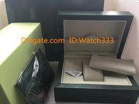 kartenetui geldbörsen frauen großhandel-Hohe Qualität Uhren Grün Originalkarton Geeignet für 116610 126600116710 Uhrenbox Papiere Card Wallet Boxes Cases Großhandel Frauen Box