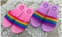yeni model terlik toptan satış-Yeni patlama modelleri gökkuşağı kadın terlik mobilya banyo terlik üreticileri doğrudan toptan terlik Taban malzemesi PVC