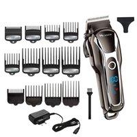 saç kesimi salonları toptan satış-Makine saç kesimi salonu toolMX190925 kesme erkekler elektrikli kesici saç için Barber güçlü saç kesme berber profesyonel saç düzeltici