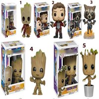 ingrosso divertimento pop groot-Funko POP Marvel's Guardians of the Galaxy Untitled Avengers Star del cinema Lord Groot Regalo di compleanno per bambini D