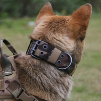 toka köpek yaka toptan satış-Köpekler Yaka Dayanıklı Taktik Naylon Yaka Açık Ayarlanabilir Toka Eğitim Pet Köpek Yaka Evcil Dekor Malzemeleri