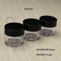 Wholesale free art samples resale online - g Small Facial Care Cream Jar PS Sample Containers Cosmtic Jar Box Makeup Cream Nail Art Jar