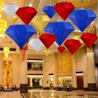 ingrosso decorazioni diamanti-New Big Diamond Decorazione 3D Diamante Decorazione della casa Wedding Decor Artigianato Diamante Christams Hangings Party Hangings Mall Ornaments