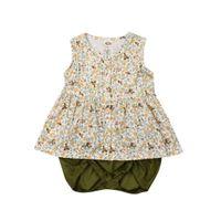 pantalones cortos verdes trajes de niño al por mayor-Pudcoco 2019 Summer Newborn Toddler Baby Girls Tops camiseta vestido verde Shorts 2PCS Outfit ropa Casual conjunto