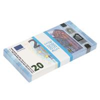 estudante crianças venda por atacado-20 notas de euro Realistic Motion Money Full Print 2 lados para crianças, estudantes, filme