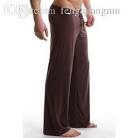 Wholesale mens white yoga pants for sale - Brand Mens Sleepwear trousers male sports Yoga panties breathable lounge casual pants pajama pants quick drying m4