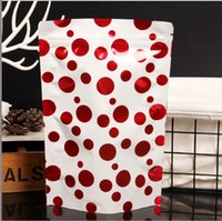Wholesale zipper aluminum bag for sale - Group buy Christmas Candy Bog Gift Bag Creative Dot Star Pattern Aluminum Foil Zip Lock Bag Self Zipper Food Storage Retail Pouch Package AN2831