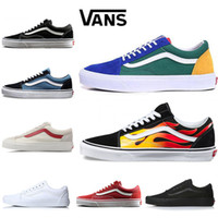 New arrival Vans Old Skool Yacht Club Men women Casual shoes Skateboard  Canvas Sports Men trainer zapatillas Running Shoe Sneaker size 36-44 6b426f97d