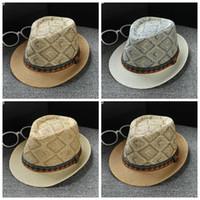 mélanger les chapeaux radin achat en gros de-Chapeau style bohème Chapeau de paille Stingy Brim Hats Jazz Adulte Parasol Summer Beach Rétro Couleur Mix 7 4 km F1