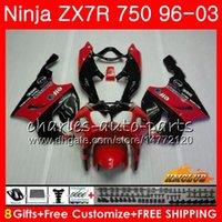 черный красный zx7r обтекатель оптовых-Корпус Для KAWASAKI NINJA ZX 7R ZX750 красный черный горячий ZX-7R 1996 1997 1998 1999 2000 28HC.54 ZX-750 ZX 7 R ZX 750 ZX7R 96 97 98 99 00 Обтекатели