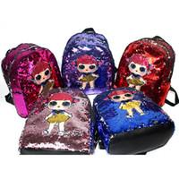 çocuk poşeti toptan satış-Yeni Çocuk LED Sırt Çantaları Kawaii Karikatür Bebekler Schoolbag Bebek Kız Moda swagger çantası Çift Omuz Paketi Çocuklar hediye zx006