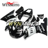 preto branco yamaha r1 venda por atacado-Injeção Da Motocicleta Carroçaria Marca New West Black White Carenagem Para Yamaha YZF1000 R1 1998 1999 Completa Corpo Da Bicicleta Quadros R1 98 99 Cascos