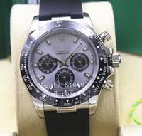 Wholesale strap panda for sale - Group buy New Men s Automatic Movement Panda Dial Watch Mens Cosmograph Watches Men Ceramic Bezel Oysterflex Rubber Strap Wristwatches