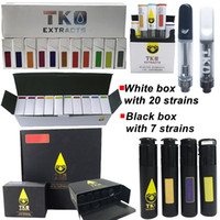 Wholesale waxing cartridge for sale - Group buy TKO Sauce Empty Vape Pen Cartridges Packaging ml ml Ceramic Thick Oil Atomizer Thread E Cigarette Dab Pen Wax Vaporizer Carts
