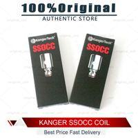 bobinas subox venda por atacado-100% originalKanger bobinas ssocc bobinas verticais para Kanger Subtank Kanger bobina de substituição de algodão orgânico fit subox topbox mini