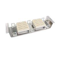 standart çerçeveler toptan satış-Freeshipping Raf Paslanmaz çelik 100 pairs telefon patch panel Krone ses modülü VDF Dağıtım Çerçevesi için 19-inç standart dolapları