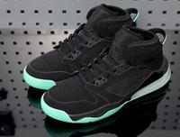 basketbol ayakkabıları yeşil renkte toptan satış-En kaliteli AJ Mars 270 Yeşil Glow basketbol Ayakkabı Siyah / Yansıtan Gümüş-Yeşil Glow Paramparça Backboard Ayakkabı Spor Sneakers boyutu 40-46