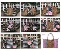 reisetaschen für frauen großhandel-Designer Handtasche Striped Floral Leopard Handtaschen Women Gym Outdoor Reisetasche Travel Camo Einkaufstasche Patchwork Gepäcktasche 22 Zoll A52902