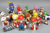mario bros oyuncak figür toptan satış-Mario Bros Eylem lol Orijinal 4.3Inch Süper Mario oyuncak oyuncak 20 Modeller Rastgele Mix Şekil