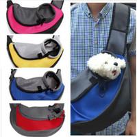 Wholesale puppy carrier tote resale online - Pet Carrier Cat Puppy Small Animal Dog Carrier Sling Front Mesh Travel Tote Shoulder Bag Backpack SL65